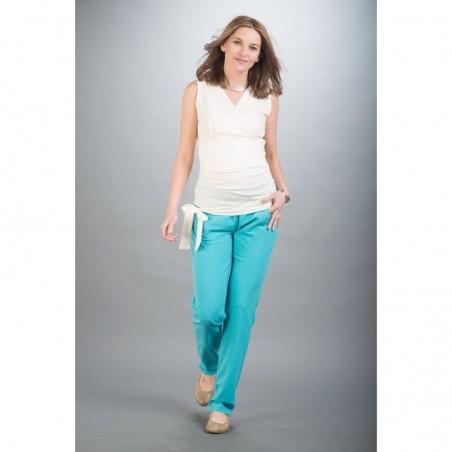 Volver Blue Spodnie Materiałowe