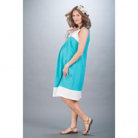 Gabrielle Blue Sukienki ciążowe na wesele