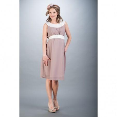 Amelia Beige Sukienki ciążowe