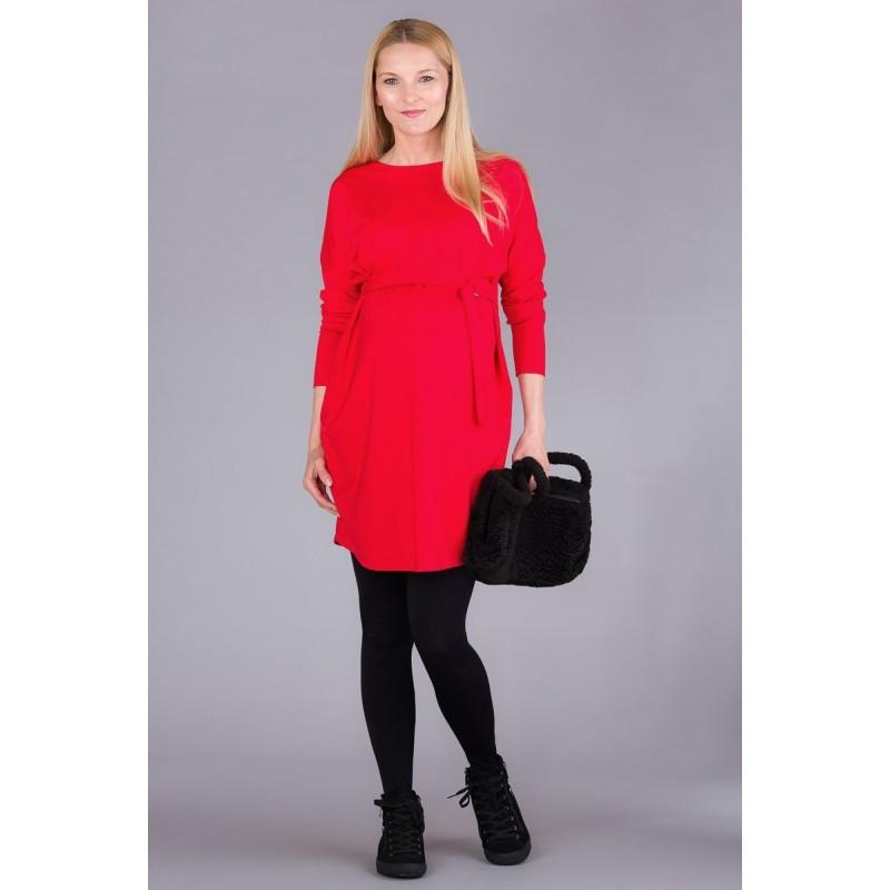 Charlotta Orange Red Sukienki ciążowe