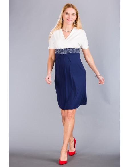 Carlotta Navy White Sukienki ciążowe