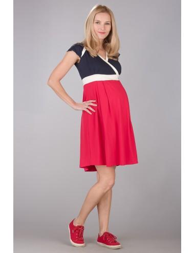 נדין כחול נייבי/אדום שמלות מותאמות להנקה