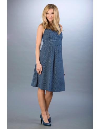 Rachel Navy White Sukienki do karmienia