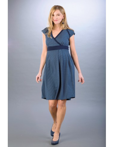 נדין כחול נייבי/לבן שמלות מותאמות להנקה