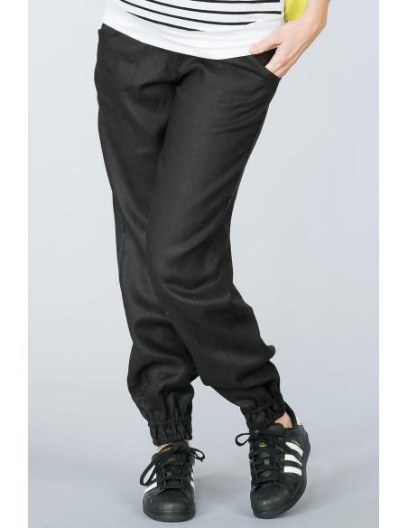 Lowa Black Spodnie Materiałowe