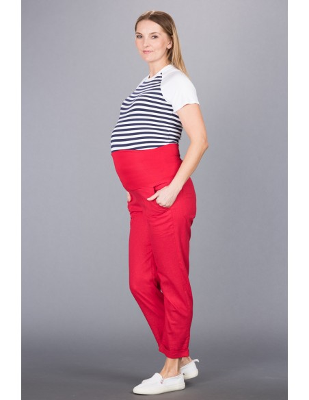 Torino Red Spodnie Materiałowe