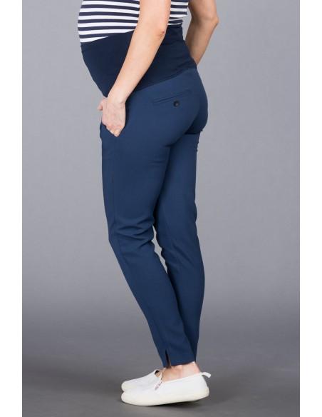 Bologna Dark Blue Spodnie Materiałowe