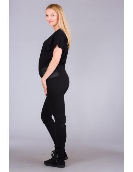 Pearl Black Spodnie Materiałowe
