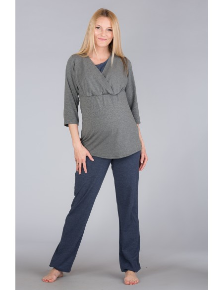 Wellness Grey Melange Bielizna i piżamy