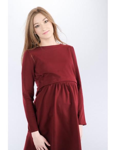 Isla burgundy Sukienki do karmienia