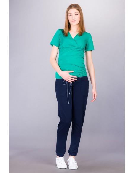 Giorgio navy Spodnie ciążowe