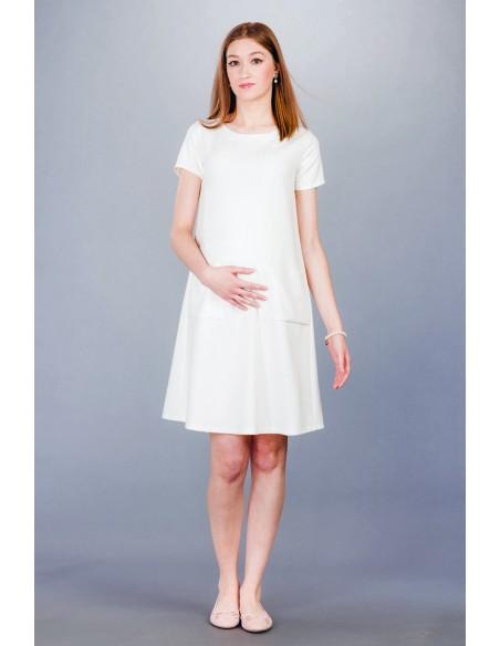 Ella ecru Sukienki ciążowe