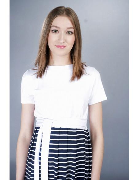 Gemma navy stripe Sukienki ciążowe