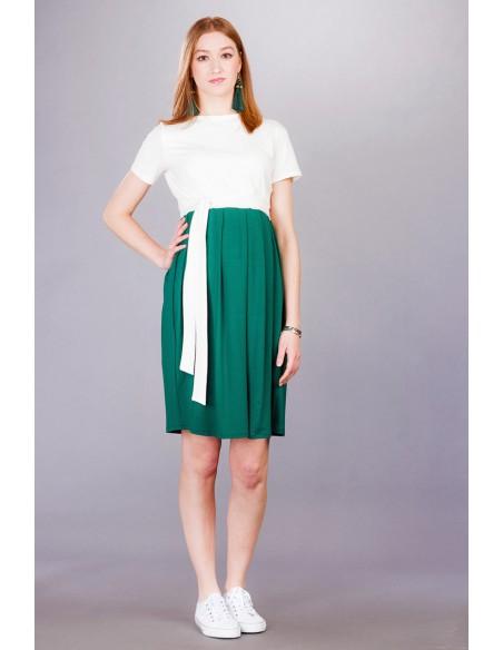 Gemma deep green Sukienki ciążowe