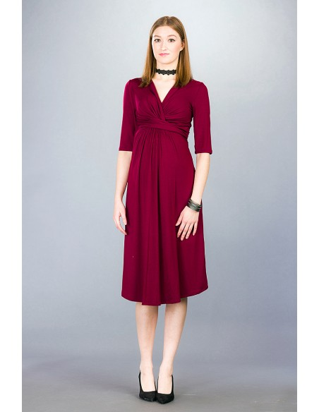 Priscilla burgundy Sukienki do karmienia